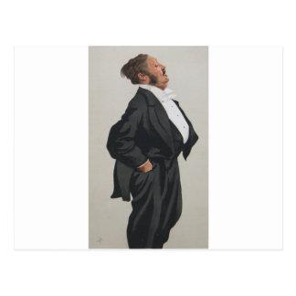Caricature of Mr Lionel Lawson by James Tissot Postcard