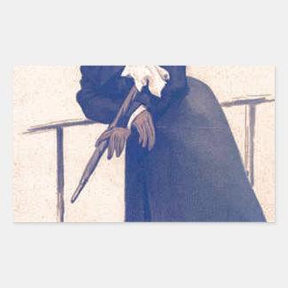 Caricature of Mr Washington Hibbert James Tissot Rectangular Sticker