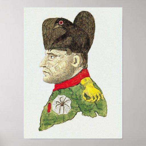 Caricature of Napoleon Bonaparte Poster