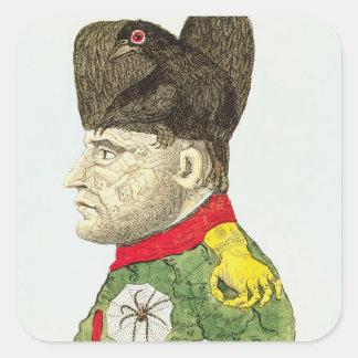 Caricature of Napoleon Bonaparte Square Sticker