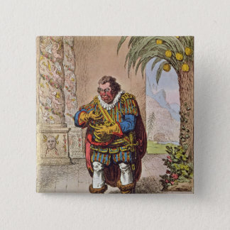 Caricature of Pizarro contemplating the 15 Cm Square Badge