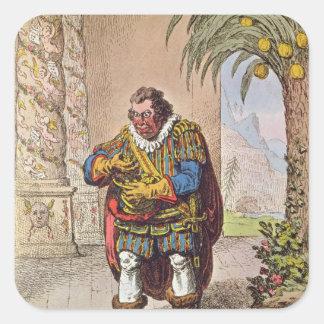 Caricature of Pizarro contemplating the Square Stickers