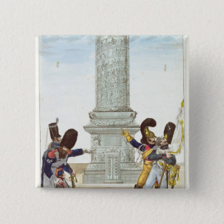 caricature of soldiers at the Colonne Vendome 15 Cm Square Badge