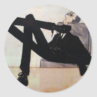 Caricature of the artist Emmerico Nunes by Amadeo Round Sticker