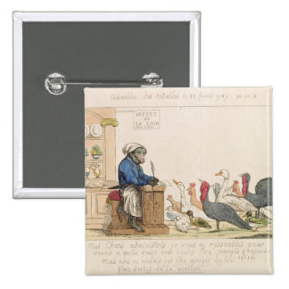 Caricature of the Assembly of Notables 15 Cm Square Badge