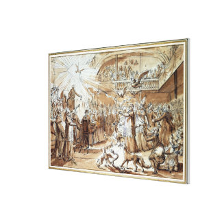 Caricature of the clergy canvas print
