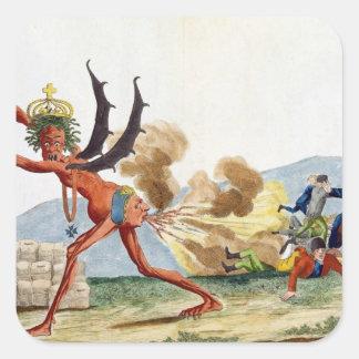 Caricature of the English Government, 1793 Square Sticker