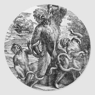 Caricature of the Laoc on group by Titian Round Sticker
