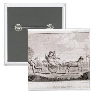 Caricature of the Nouveaux Riches, c.1795 15 Cm Square Badge