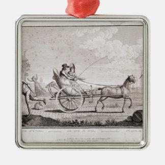 Caricature of the Nouveaux Riches, c.1795 Christmas Ornament