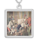Caricature of the Triple Alliance Silver Plated Necklace