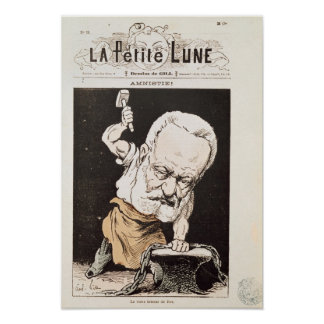 Caricature of Victor Hugo Posters
