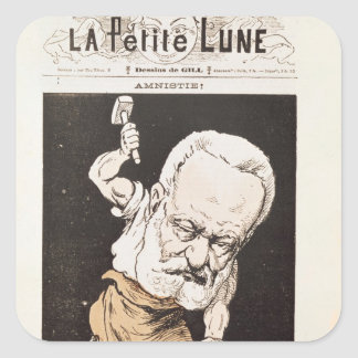 Caricature of Victor Hugo Square Sticker