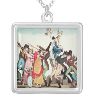 Caricature on the 1811 Comet, c.1811 Silver Plated Necklace
