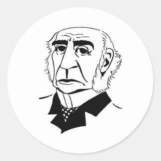 Caricature William Gladstone Round Sticker