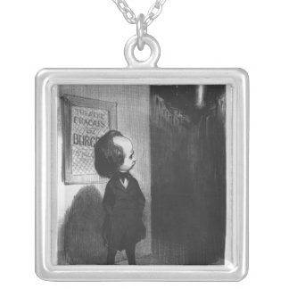 'Caricatures du jour', caricature of Victor Hugo Silver Plated Necklace