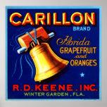 Carillon Florida Grapefruit and Oranges Poster