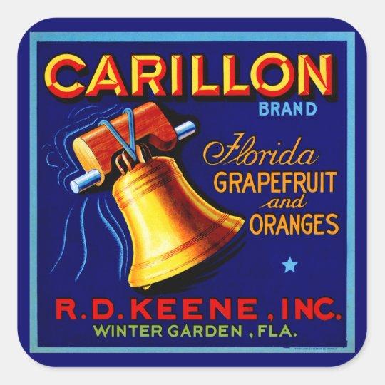 Carillon Florida Grapefruits Square Sticker