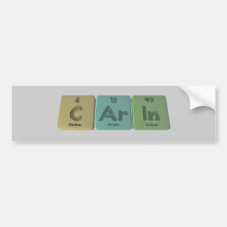 Carin as Carbon Argon Indium Bumper Sticker
