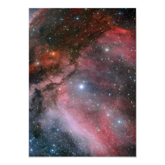 Carina Nebula around the Wolf Rayet star WR 22 11 Cm X 16 Cm Invitation Card