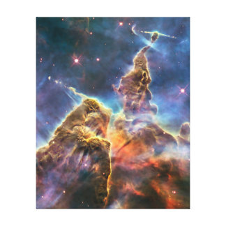 Carina Nebula by the Hubble Space Telescope Gallery Wrap Canvas