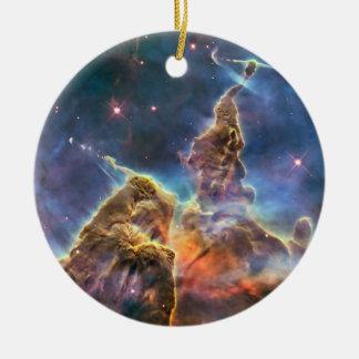 Carina Nebula by the Hubble Space Telescope Christmas Ornament