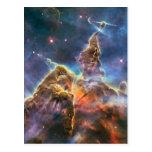 Carina Nebula by the Hubble Space Telescope Postcard