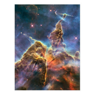 Carina Nebula by the Hubble Space Telescope Postcard