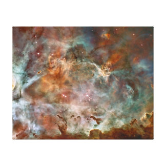 Carina Nebula Dark Clouds Canvas Print