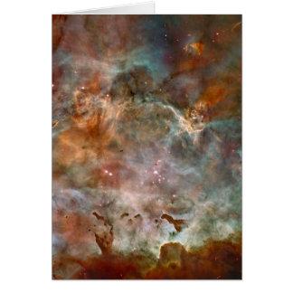 Carina Nebula Dark Clouds Card