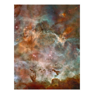 Carina Nebula Dark Clouds Full Color Flyer