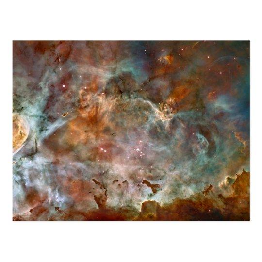 Carina Nebula Dark Clouds Postcard