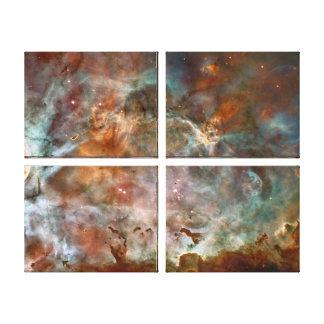 Carina Nebula Dark Clouds Stretched Canvas Prints
