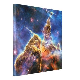 Carina Nebula Mystic Mountain Detail Gallery Wrap Canvas