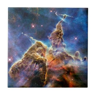 Carina Nebula Mystic Mountain Detail Small Square Tile