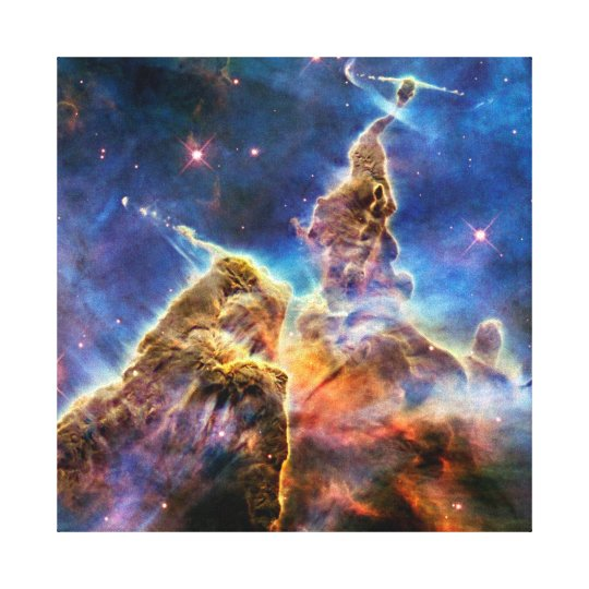 Carina Nebula Mystic Mountain Outer Space Photo Canvas