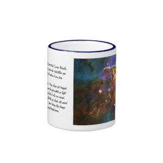 Carina Nebula, Star Forming Gas-cloud Sculpture Ringer Mug