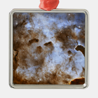 Carina Nebula Star-Forming Pillars Silver-Colored Square Decoration