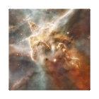 Carina Nebula Star-Forming Region Detail Canvas Print