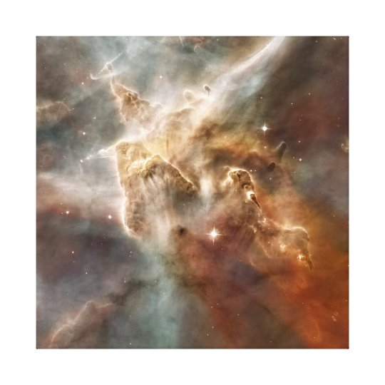 Carina Nebula Star-Forming Region Detail Canvas Print