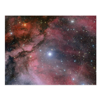 Carina Nebula, Wolf–Rayet star WR 22 Postcard