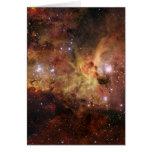 Carina nebulae in space NASA Greeting Card
