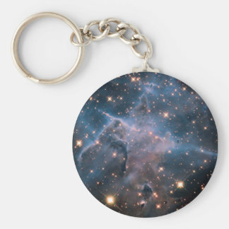 Carina's 'Mystic Mountain' in Infrared Basic Round Button Key Ring