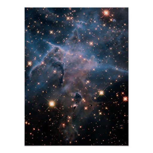 Carina's 'Mystic Mountain' in Infrared Poster