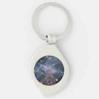 Carina's 'Mystic Mountain' in Infrared Silver-Colored Swirl Key Ring
