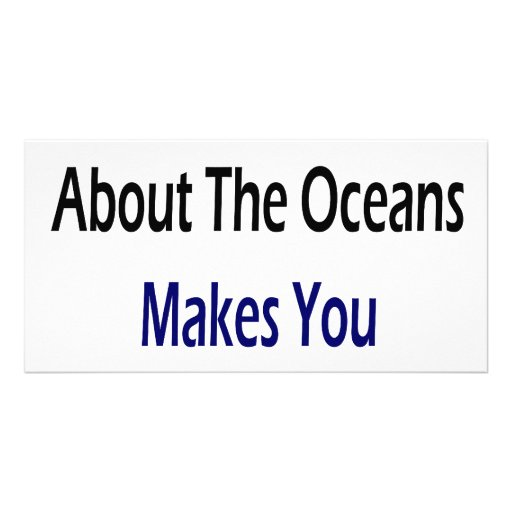 Caring About The Oceans Makes You Cool Picture Card