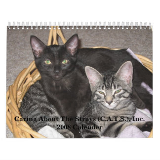 Caring About The Strays 2008 Wall Calender Wall Calendar