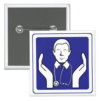 caring doctor sign buttons