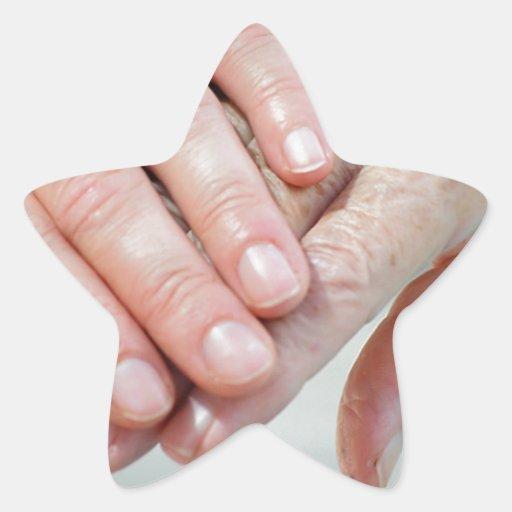 caring hands sticker