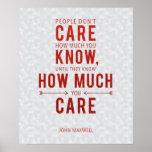 Caring Leadership Quote Poster John Maxwell